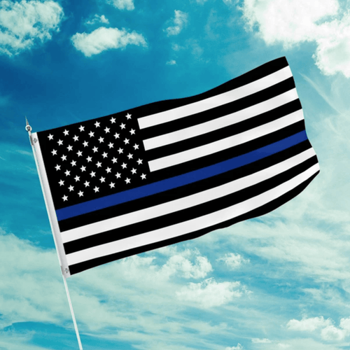 Willbork Flag 3 by 5 Foot Thin Blue Line Flag