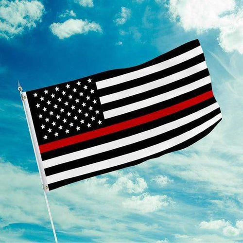 Printed Kicks Flag 3 X 5 Thin Red Line Flag