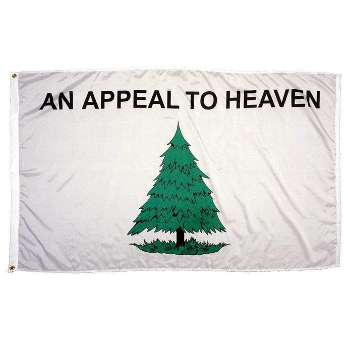 Gadsden and Culpeper Flag 3 X 5 / White / Single Sided An Appeal to Heaven Super-Poly Flag (Single or Double Sided)