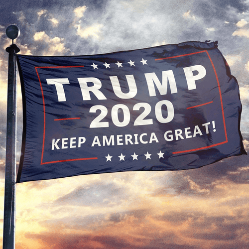 Print Brains Flag Trump 2020 Flag / Navy / 3' x 5' Trump 2020 Flag