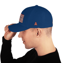 Load image into Gallery viewer, American Patriots Apparel Flexfit Hat AMERICA AR-15 Gun Flag Structured Twill Flexfit Hat (6 Variants)