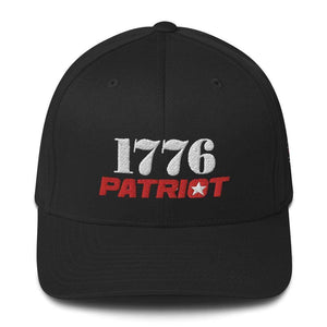 American Patriots Apparel Flexfit Hat Black / S/M 1776 (White) Patriot (Red) Flexfit Structured Twill Hat (7 Variants)