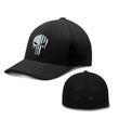 Load image into Gallery viewer, Printed Kicks Flexfit Hat Black / S/M Thin Blue Line (TBL) Punisher Flexfit Hat (5 Variants)