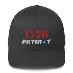 American Patriots Apparel Flexfit Hat Dark Grey / S/M 1776 (Red) Patriot (White) Flexfit Structured Twill Hat (7 Variants)