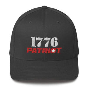 American Patriots Apparel Flexfit Hat Dark Grey / S/M 1776 (White) Patriot (Red) Flexfit Structured Twill Hat (7 Variants)