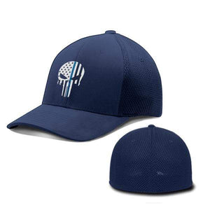 Printed Kicks Flexfit Hat Deep Navy / S/M Thin Blue Line (TBL) Punisher Flexfit Hat (5 Variants)