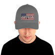 Load image into Gallery viewer, American Patriots Apparel Flexfit Hat Grey / S/M AMERICA AR-15 Gun Flag Structured Twill Flexfit Hat (6 Variants)