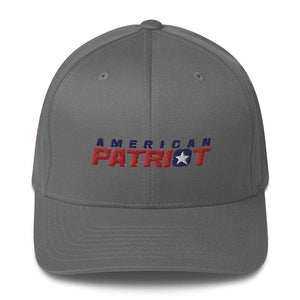 American Patriots Apparel Flexfit Hat Grey / S/M American Patriots V2 Structured Twill Flexfit Hat (7 Variants)