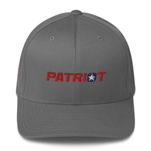 American Patriots Apparel Flexfit Hat Grey / S/M Patriot Structured Twill Flexfit Hat (7 Variants)