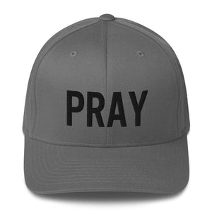 American Patriots Apparel Flexfit Hat Grey / S/M Pray Flexfit Hat - Black Text (7 Variants)