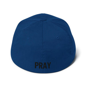 American Patriots Apparel Flexfit Hat Pray Flexfit Hat - Black Text (7 Variants)