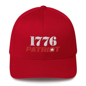 American Patriots Apparel Flexfit Hat Red / S/M 1776 (White) Patriot (Red) Flexfit Structured Twill Hat (7 Variants)