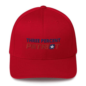 American Patriots Apparel Flexfit Hat Red / S/M Three Percent Patriot Flexfit Hat (7 Variants)
