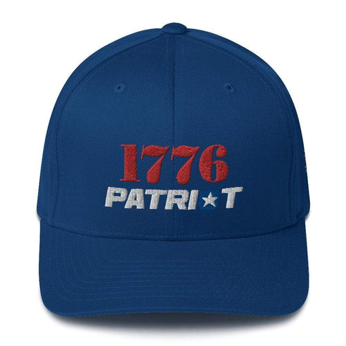 American Patriots Apparel Flexfit Hat Royal Blue / S/M 1776 (Red) Patriot (White) Flexfit Structured Twill Hat (7 Variants)