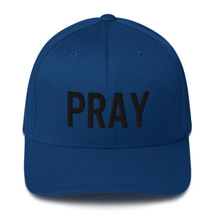 American Patriots Apparel Flexfit Hat Royal Blue / S/M Pray Flexfit Hat - Black Text (7 Variants)