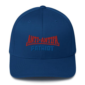 American Patriots Apparel Flexfit Hat Royal Blue / S/M Red Anti-Antifa Royal Patriot Transparent Star Flexfit Hat (7 Variants)