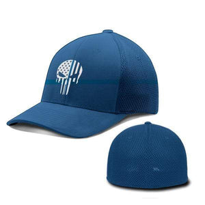 Printed Kicks Flexfit Hat Thin Blue Line (TBL) Punisher Flexfit Hat (5 Variants)