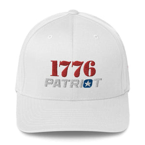 American Patriots Apparel Flexfit Hat White / S/M 1776 (Red) Patriot (White) Flexfit Structured Twill Hat (7 Variants)