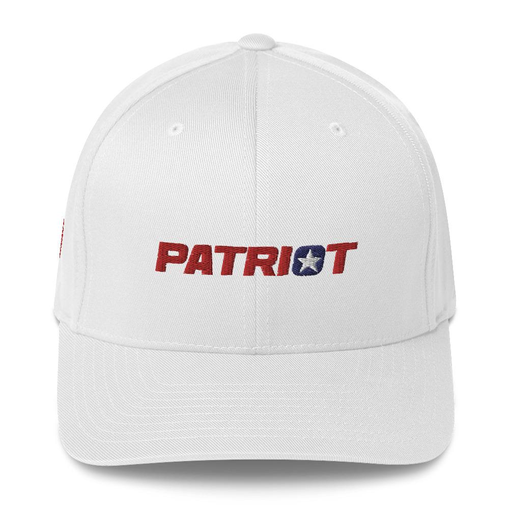 American Patriots Apparel Flexfit Hat White / S/M Patriot Structured Twill Flexfit Hat (7 Variants)