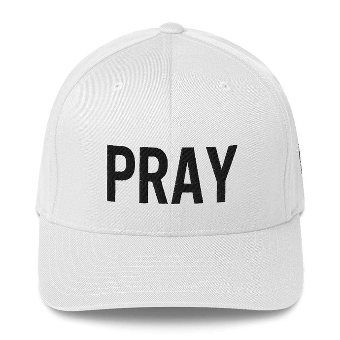 American Patriots Apparel Flexfit Hat White / S/M Pray Flexfit Hat - Black Text (7 Variants)