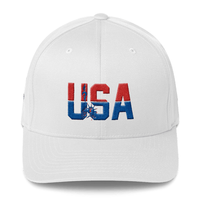 American Patriots Apparel Flexfit Hat White / S/M USA Statue of Liberty American Flag Flexfit Hat (7 Variants)