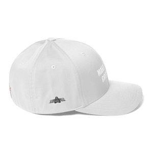 American Patriots Apparel Flexfit Hat White Text MAKE AMERICA GREAT AGAIN (MAGA) Flexfit Hat (7 Variants)