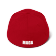 Load image into Gallery viewer, American Patriots Apparel Flexfit Hat White Text MAKE AMERICA GREAT AGAIN (MAGA) Flexfit Hat (7 Variants)
