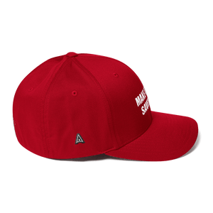 American Patriots Apparel Flexfit Hat White Text MAKE AMERICA SAVED AGAIN 1 Cor. 15:1-4 Flexfit Structured Twill Cap (7 Variants)
