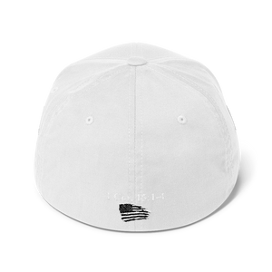 American Patriots Apparel Flexfit Hat White Text MAKE AMERICA SAVED (Underlined) AGAIN Multiple Bible Verses Flexfit Hat (7 Variants)