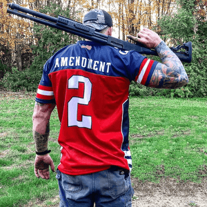 Print Brains Football Jersey Team USA 2nd Amendment Football Jersey v2