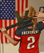 Load image into Gallery viewer, Print Brains Football Jersey Team USA 2nd Amendment Football Jersey v2