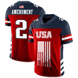 Load image into Gallery viewer, Print Brains Football Jersey Team USA 2nd Amendment Football Jersey v2 / S Team USA 2nd Amendment Football Jersey v2