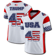 Load image into Gallery viewer, Print Brains Football Jersey Trump #45 Football Jersey / White / S Trump #45 Football Jersey