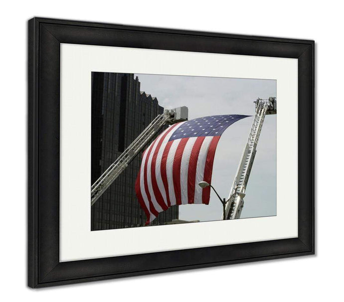 US Drop Ship Framed Print Red/White/Blue / 26