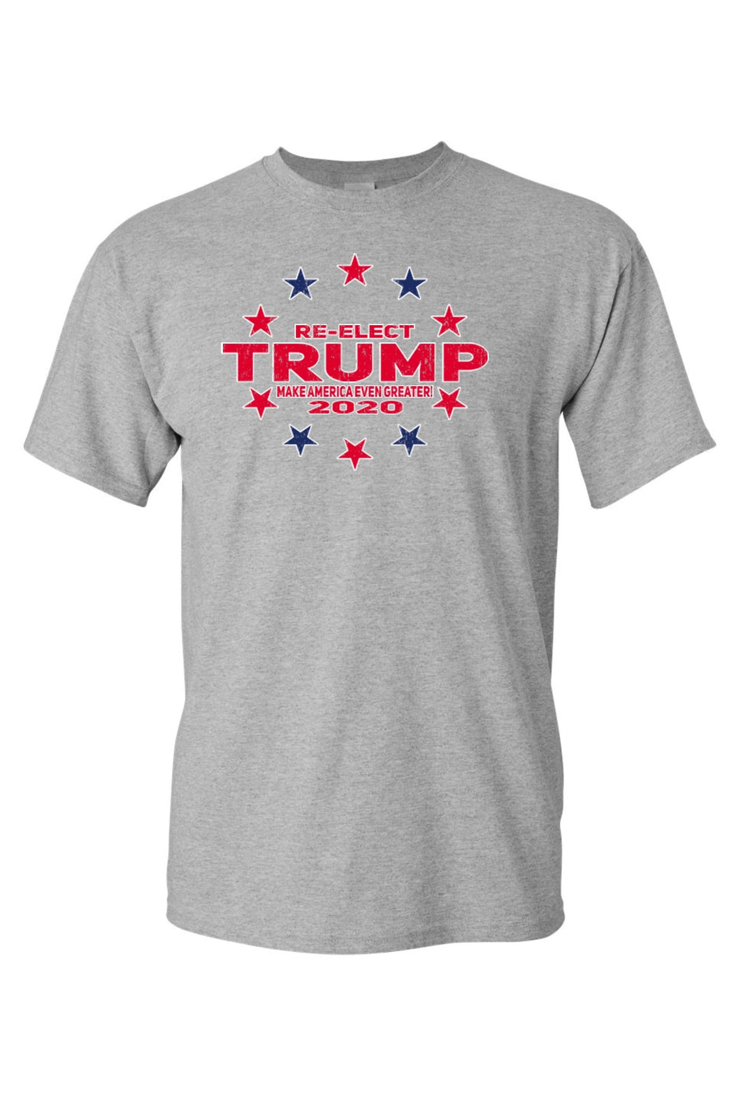 American Patriots Apparel FRONT / Grey / 5XL Unisex Trump Stars & Stripes Short Sleeve Shirt