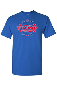 American Patriots Apparel FRONT / RoyalBlue / 5XL Unisex Trump Stars & Stripes Short Sleeve Shirt