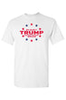 Load image into Gallery viewer, American Patriots Apparel FRONT / White / LARGE Unisex Trump Stars & Stripes Short Sleeve Shirt