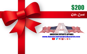 American Patriots Apparel Gift Card <span class=money>$200.00 USD</span> / OSFA / White American Patriots Apparel Gift Card