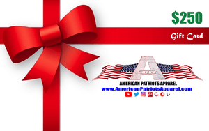 American Patriots Apparel Gift Card <span class=money>$250.00 USD</span> / OSFA / White American Patriots Apparel Gift Card
