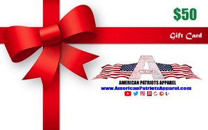 American Patriots Apparel Gift Card <span class=money>$50.00 USD</span> / OSFA / White American Patriots Apparel Gift Card