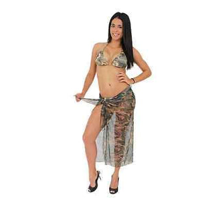 American Patriots Apparel GREEN / One Size Fits Most Camo Long Sarong