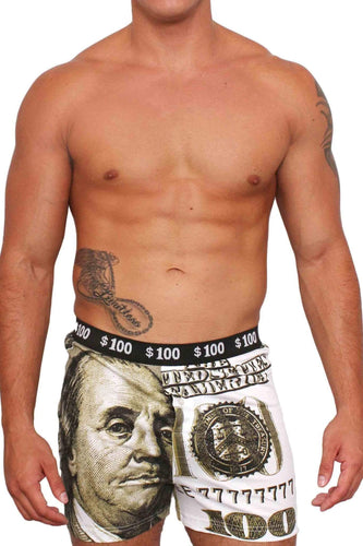 American Patriots Apparel GREEN / XL Men's Boxers $100 Dollar Bill