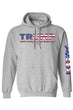 Load image into Gallery viewer, American Patriots Apparel Grey / 5XL / FRONT Unisex Trump USA Make America Even Greater Pullover Hoodie