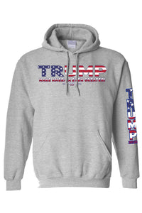 American Patriots Apparel Grey / 5XL / FRONT Unisex Trump USA Make America Even Greater Pullover Hoodie
