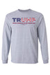 Load image into Gallery viewer, American Patriots Apparel Grey / LARGE / FRONT Unisex Trump USA Make America Even Greater Long Sleeve Shirt