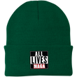 Load image into Gallery viewer, CustomCat Hats Athletic Green / One Size All Lives MAGA CP90 Knit Cap (16 Variants)