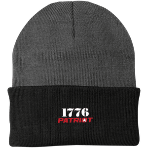 CustomCat Hats Athletic Oxford/Black / One Size 1776 Patriot CP90 Knit Cap (16 Variants)