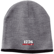 Load image into Gallery viewer, CustomCat Hats Athletic Oxford/Black / One Size 1776 Patriot CP91 100% Acrylic Beanie (5 Variants)