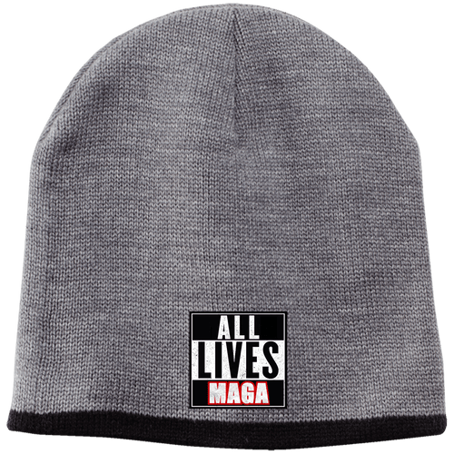 CustomCat Hats Athletic Oxford/Black / One Size All Lives MAGA CP91 100% Acrylic Beanie (5 Variants)