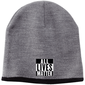 CustomCat Hats Athletic Oxford/Black / One Size All Lives Matter CP91 100% Acrylic Beanie (5 Variants)